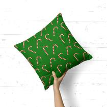 Almofada Avulsa Decorativa Balas de Natal - Love Decor
