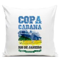 Almofada Brasil Copa Copacabana 45x45cm - 429k