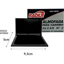 Almofada Carimbo N.2 Radex Preta -