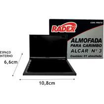 Almofada Carimbo N.3 Preta (7897254101309) - Radex