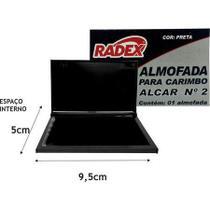 Almofada carimbo RADEX n.2 preta un -