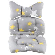 Almofada colchonete capa carrinho bebê conforto cadeirinha kakiblin estrela -