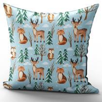 Almofada Completa 40x40 Escandinavo Animais Floresta N 1 - Fastvenda