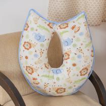 Almofada de Amamentação Menino Animaizinhos 100% Algodão - Bruna Baby