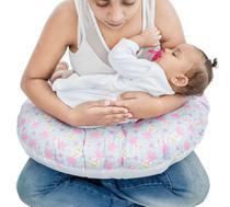 Almofada De Amamentação Travesseiro Ursinho Rosa - Click Tudo