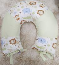 Almofada de Amamentar 100% Algodão safari Verde - Bruna Baby