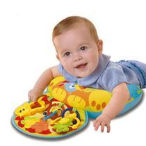 Almofada de atividades 2 em 1 divertido para bebe brinquedo acessorios e mordedor - Faça  resolva