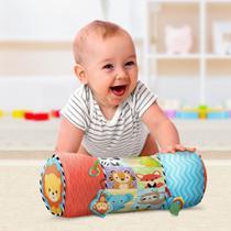 Almofada de Atividades Rolinho Brinquedo Infantil para Bebês Buba -