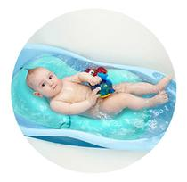 Almofada De Banho Para Bebê MENINO Baby - AZUL - Click Tudo
