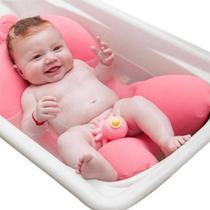 Almofada De Banho Para Bebê Rosa Buba Baby -