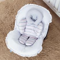 Almofada de Bebê Conforto Chuva de Amor Rosa com Cinza - Talismã
