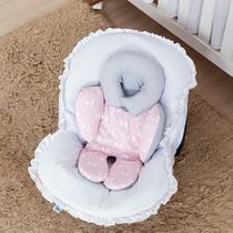 Almofada de Bebê Conforto Ursinha Mel Rosa Lacinho - Talismã