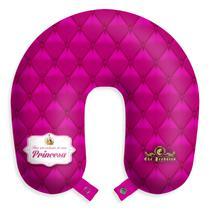 """Almofada de pescoço """"Para uso exclusivo de uma princesa"""" travesseiro apoio viagens descanso c/ botão - Eba"""