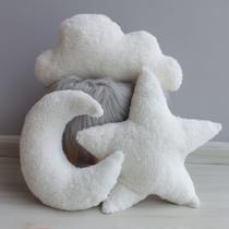 Almofada Decorativa Nuvem Chuva De Amor Para Cama Montessoriana Sherpa - Anjos Enxovais