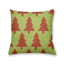 Almofada Decorativa Own Verde com Árvore de Natal Vermelha - Prego E Martelo