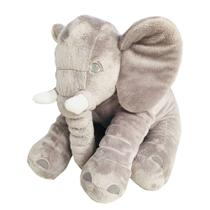 Almofada Elefante Cinza De Pelúcia Soft 50cm Para Bebê Fofinho - Império Do Bebê