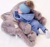 Almofada Elefante Pelúcia 55c Travesseiro Bebê Recém Nascido - LuckBaby -
