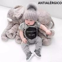 Almofada Elefante Pelúcia 60cm Travesseiro Bebê Antialérgico - Luxo