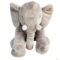 Almofada Elefante Pelúcia Cinza 50cm Bebê Recém Nascido - Império Do Bebê
