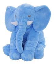 Almofada Elefante Travesseiro Pelúcia Bebê Dormir Azul 62cm - Baby'S Fraldas