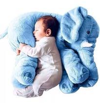 Almofada Elefante Travesseiro Pelúcia Bebê Dormir Azul - Babys fraldas