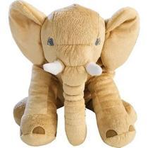 Almofada Elefante Travesseiro Pelúcia Bebê Dormir Bege 62cm - Babys Fraldas