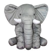 Almofada Elefante Travesseiro Pelúcia Bebê Dormir Cinza 80 cm - Larissa Confeccões