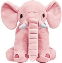 Almofada Elefante Travesseiro Pelúcia Bebê Dormir Rosa Antialergico -  Buba -