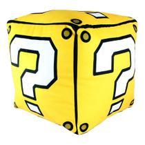 Almofada fibra formato cubo mario. - Zc