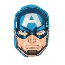 Almofada Fibra Siliconada Formato Capitao América Marvel - Zc