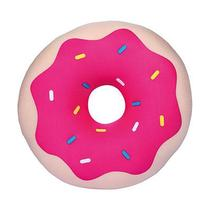 Almofada Floc Decorativa Donut Morango -