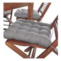 Almofada futon assento para cadeira - cinza - Casa Ambiente