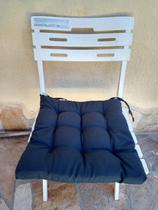 Almofada futon assento para cadeira - cinza - nacional - Artesanal Teares