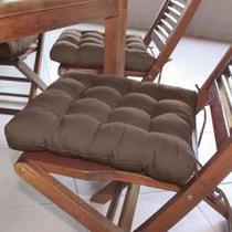 Almofada futon assento para cadeira - marrom - Casa Ambiente