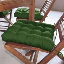 Almofada futon assento para cadeira - verde - Casa Ambiente