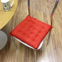 Almofada futon assento para cadeira - vermelha - Casa Ambiente