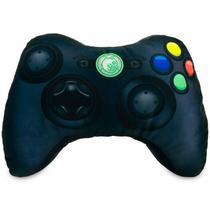 Almofada Gamer Controle de Video Game Joystick Xpillowbox 360 Preta - Presente para Gamers, Geeks & Nerds - Camaleão Preto