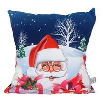 Almofada Impressão Digital Papai Noel Vermelho 42x42cm Uniart -