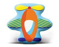 Almofada Infantil Transfer Lepper Avião -