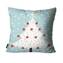 Almofada Mdecore Natal Arvore de Natal Azul -