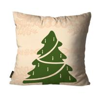 Almofada Mdecore Natal Arvore de Natal Bege -