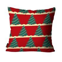 Almofada Mdecore Natal Arvore de Natal Vermelha -