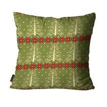Almofada Mdecore Natal Arvore Verde -