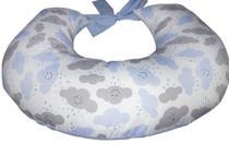 Almofada para Amamentação de Bebê Azul Chuva de Bençãos Apoio Amamentar bebe Azul - Variedades Enxovais