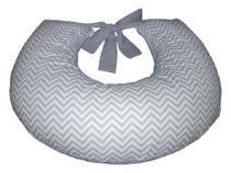 Almofada para Amamentação de Bebê Chevron Cinza e Branco Apoio Amamentar bebe Cinza Chevron - Variedades Enxovais