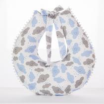Almofada Para Amamentação - Travesseiro Nuvem Azul com Cinza - Muito Macio - Barros Baby -