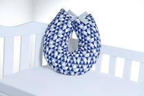 Almofada Para Amamentação Travesseiro Triângulo Azul Marinho - Império Do Bebê