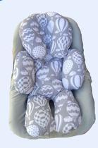 Almofada para bebê conforto Balão cinza - Elobaby
