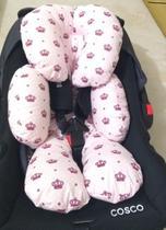 Almofada para bebê conforto coroa rosa - Elobaby