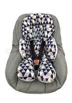 Almofada Para Bebe Conforto Suporte Carrinho Redutor Chevron Azul - Lika Baby